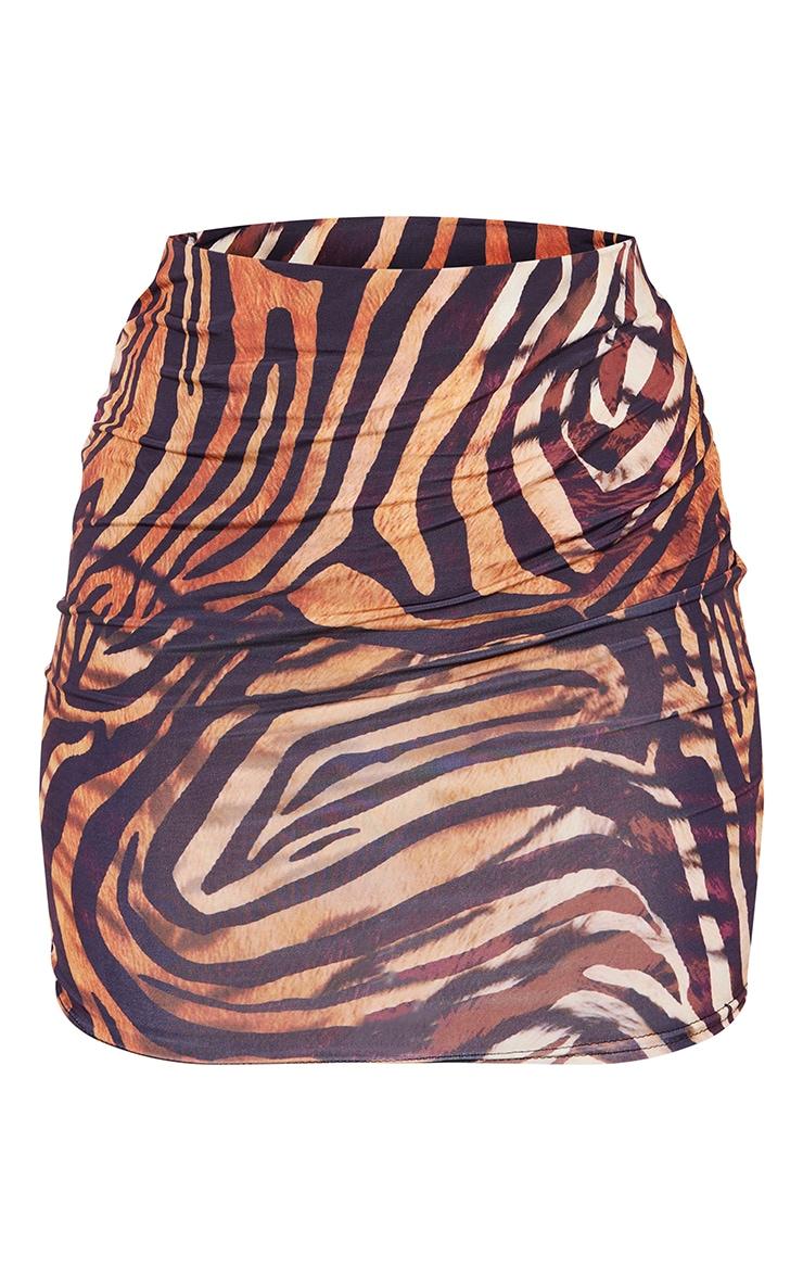 Multi Animal Print Slinky Mini Skirt 6