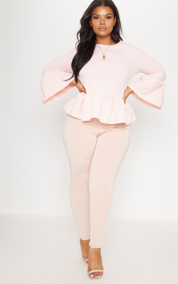 Plus Blush Frill Sleeve Top 4