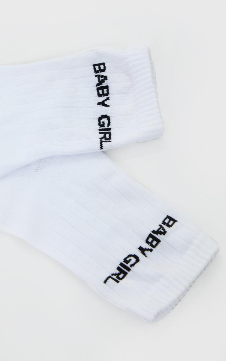 Babygirl Print Ankle Socks 3