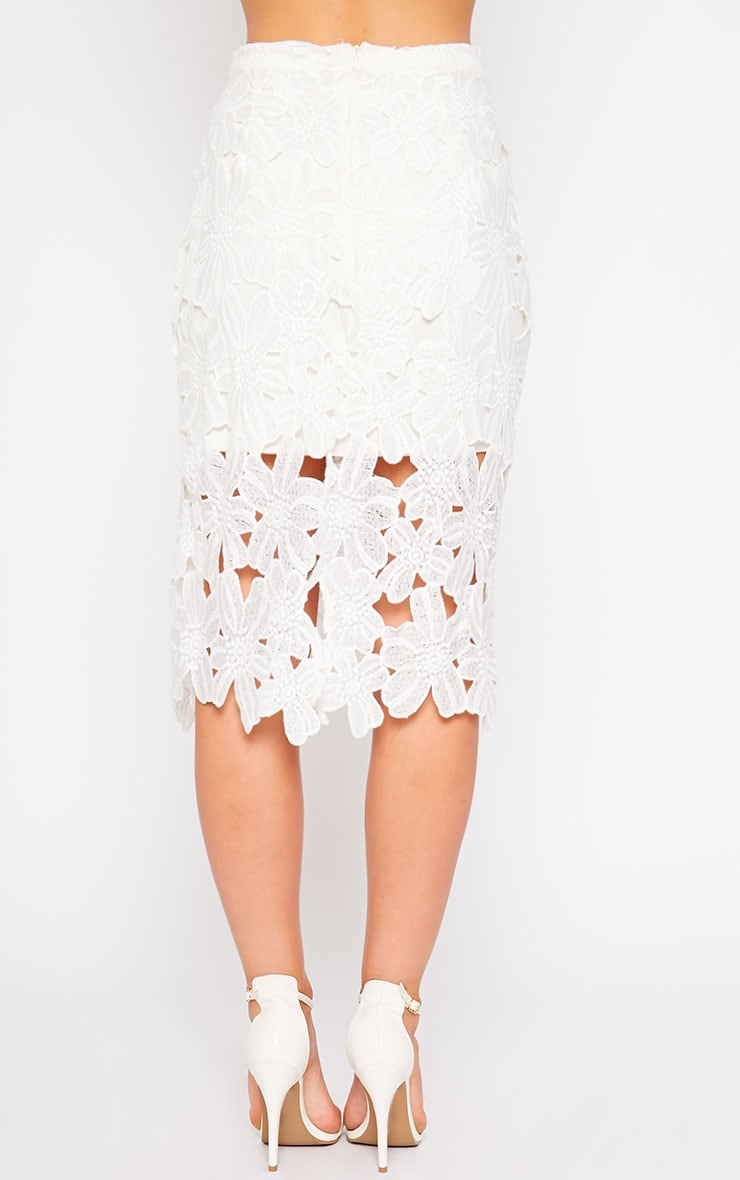 Colleen White Crochet Skirt 4