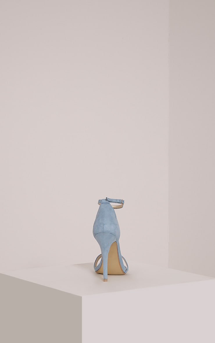 Clover Dusty Blue Strap Heeled Sandals 4