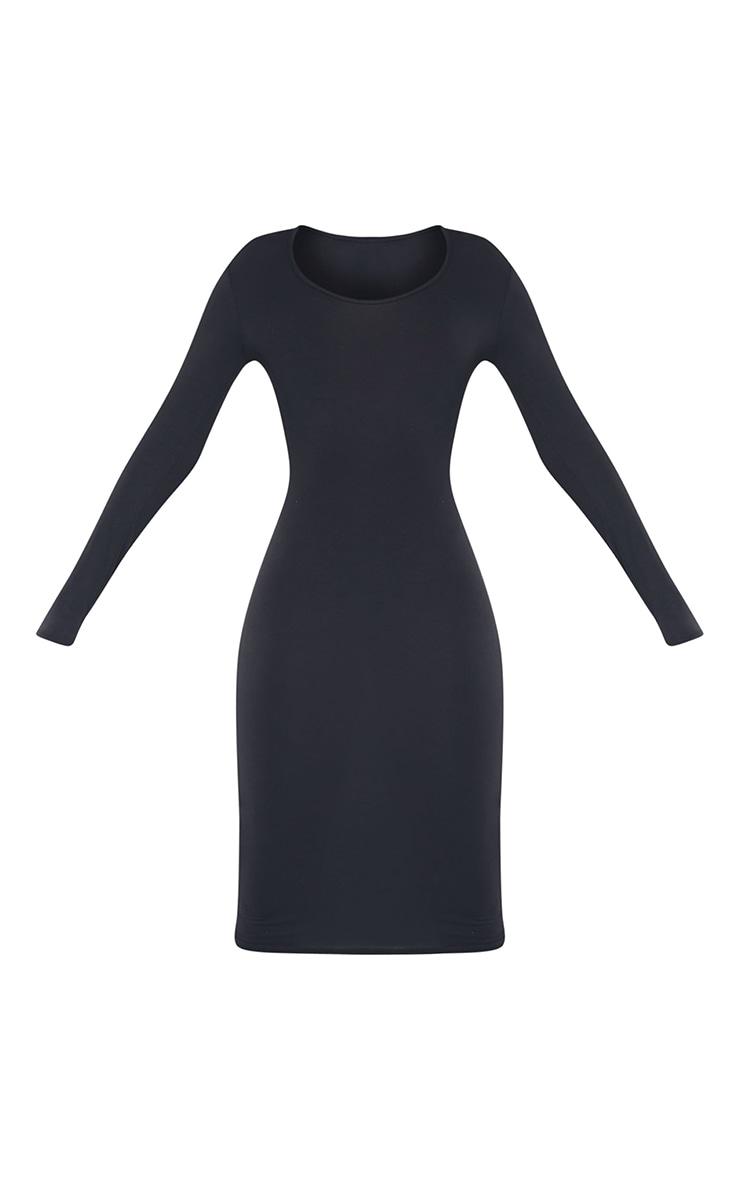 Tall Black Long Sleeve Midi Dress 6