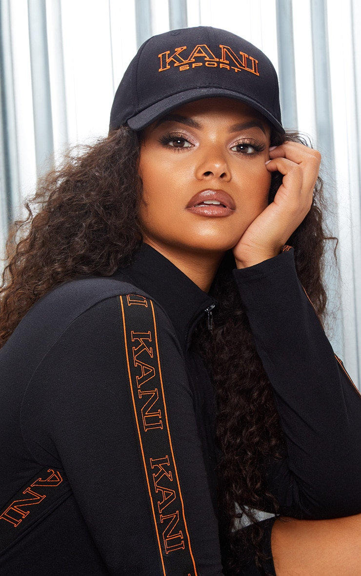 KARL KANI Black Embroidered Baseball Cap 2