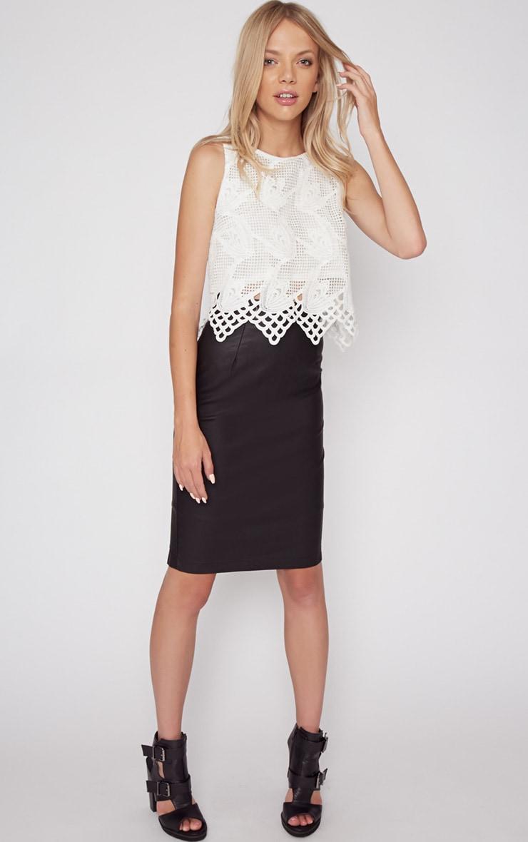 Carla White Lace Crop Top  3