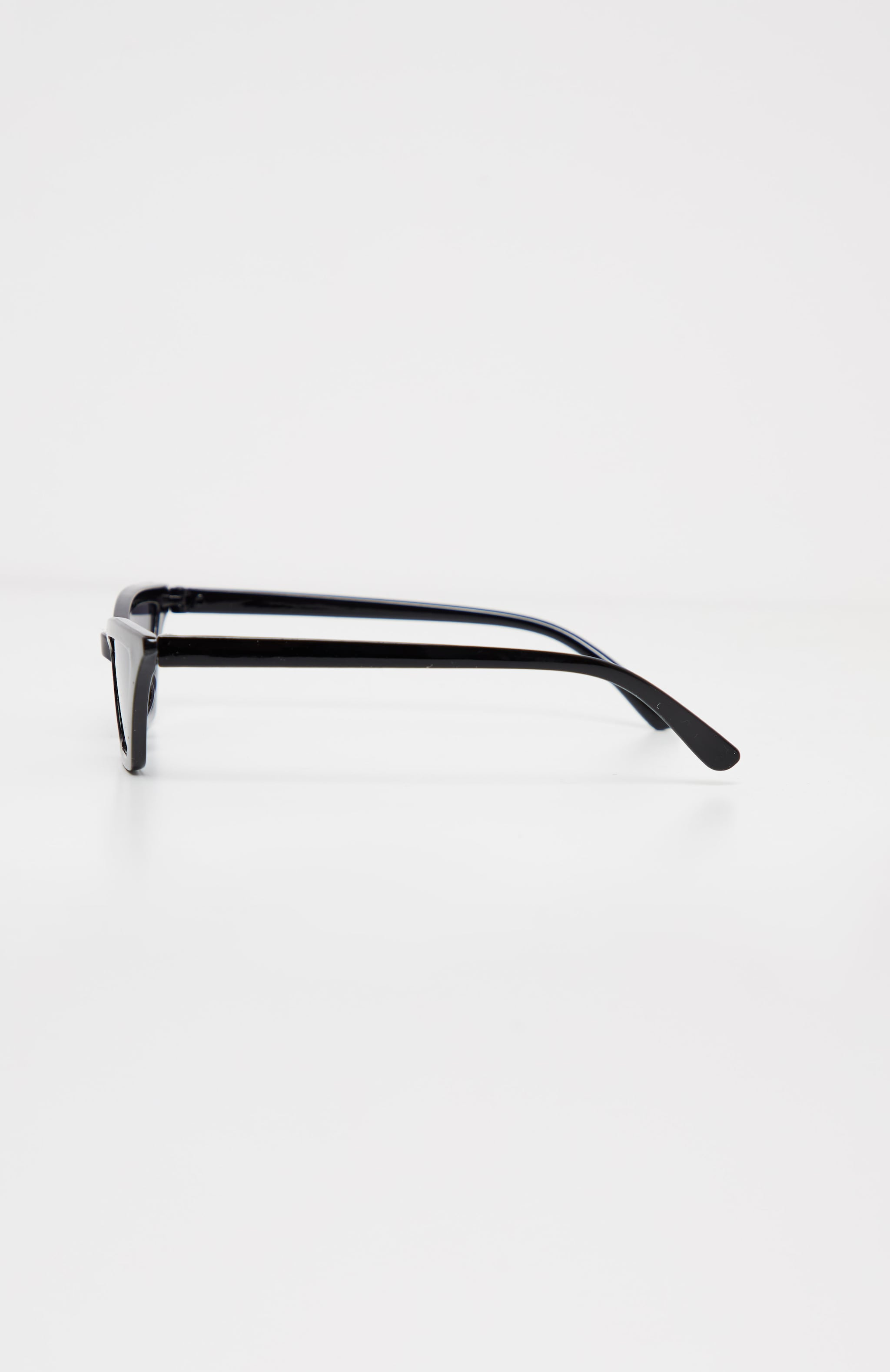 Black Narrow Slim Angular Cat Eye Sunglasses 3