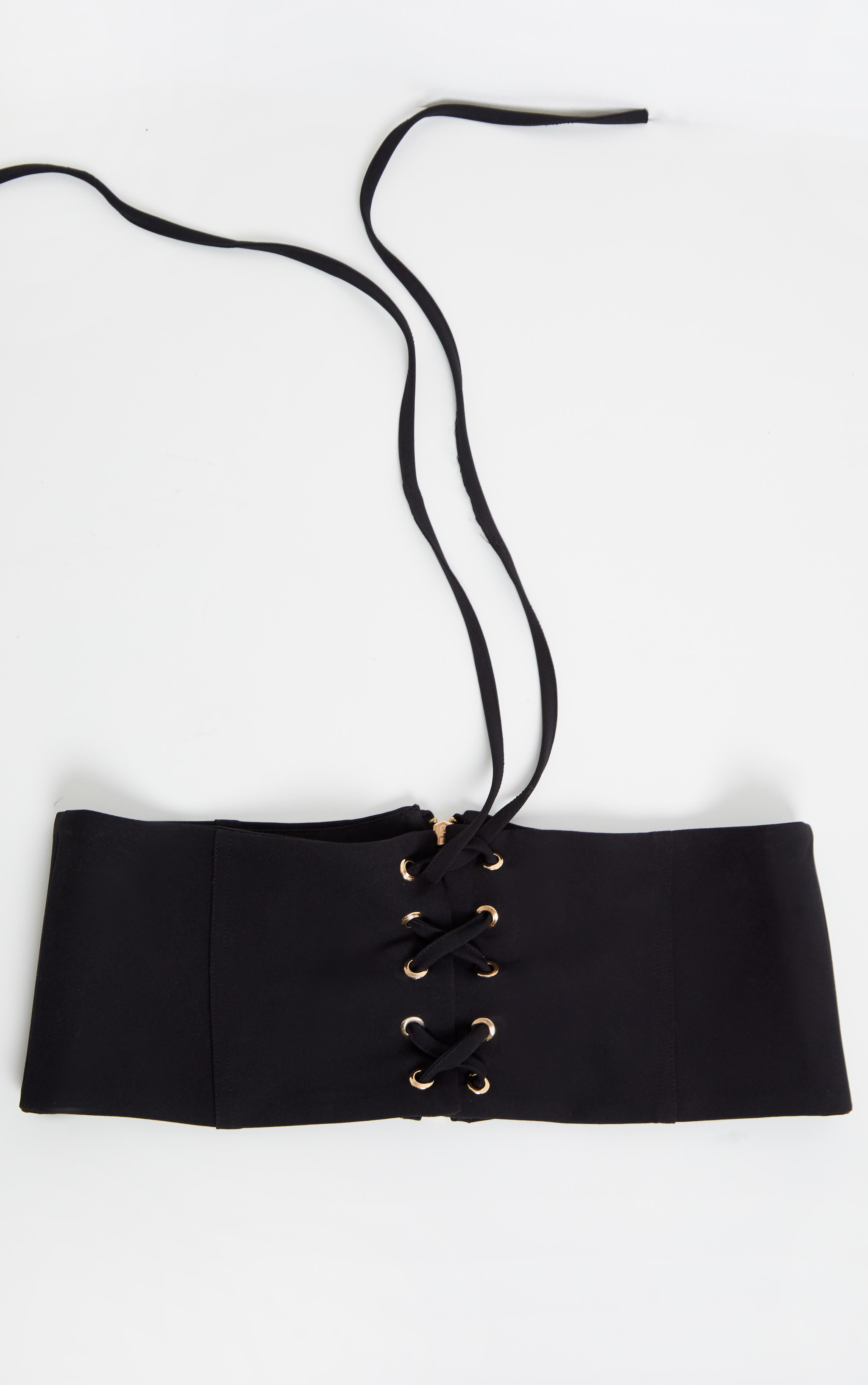 Plain Black Corset Belt 2