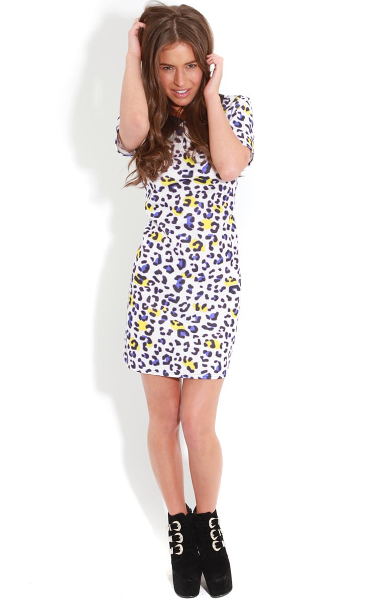 Aisling Purple Leopard Print Shift Dress 3