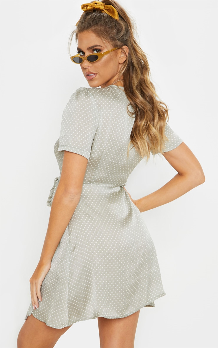 Mint Polka Dot Tea Dress 2