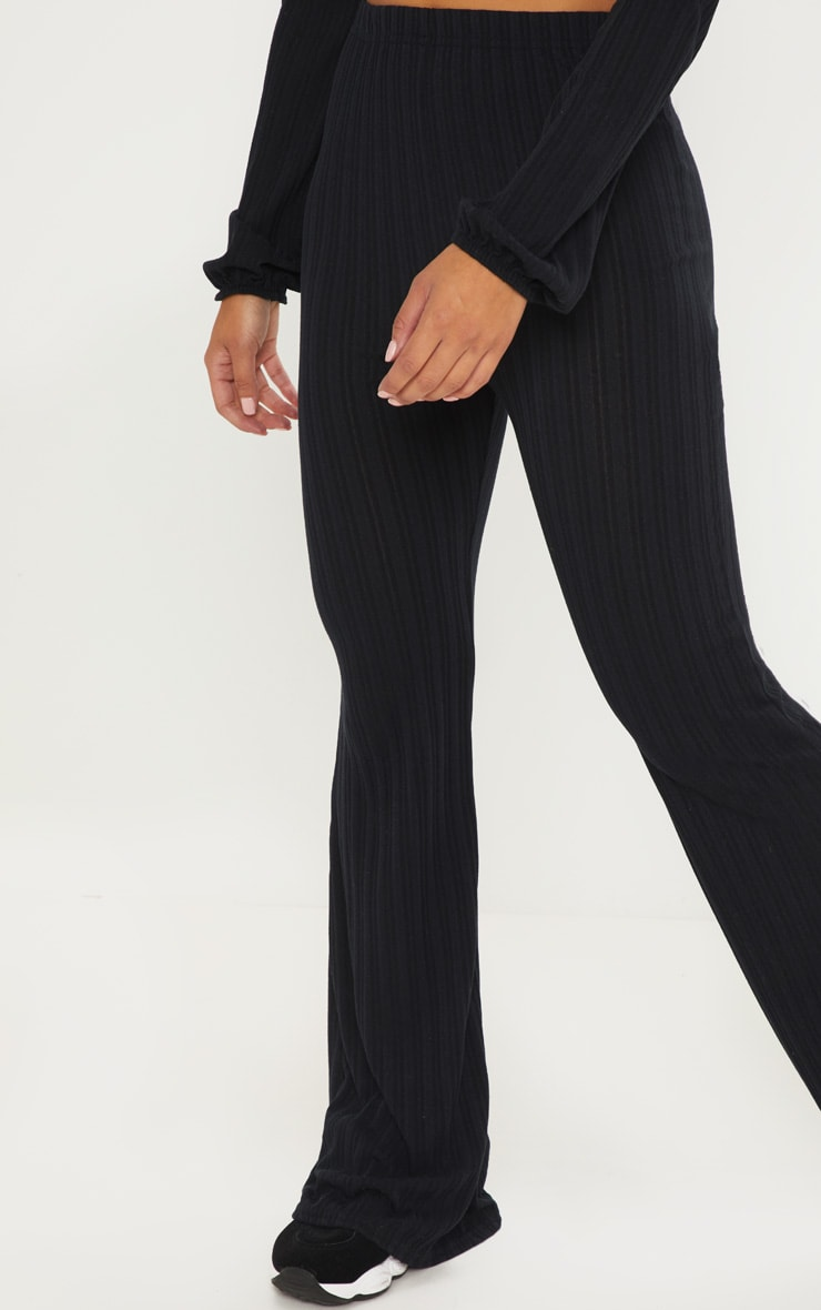 Petite Black Flared Trousers 4