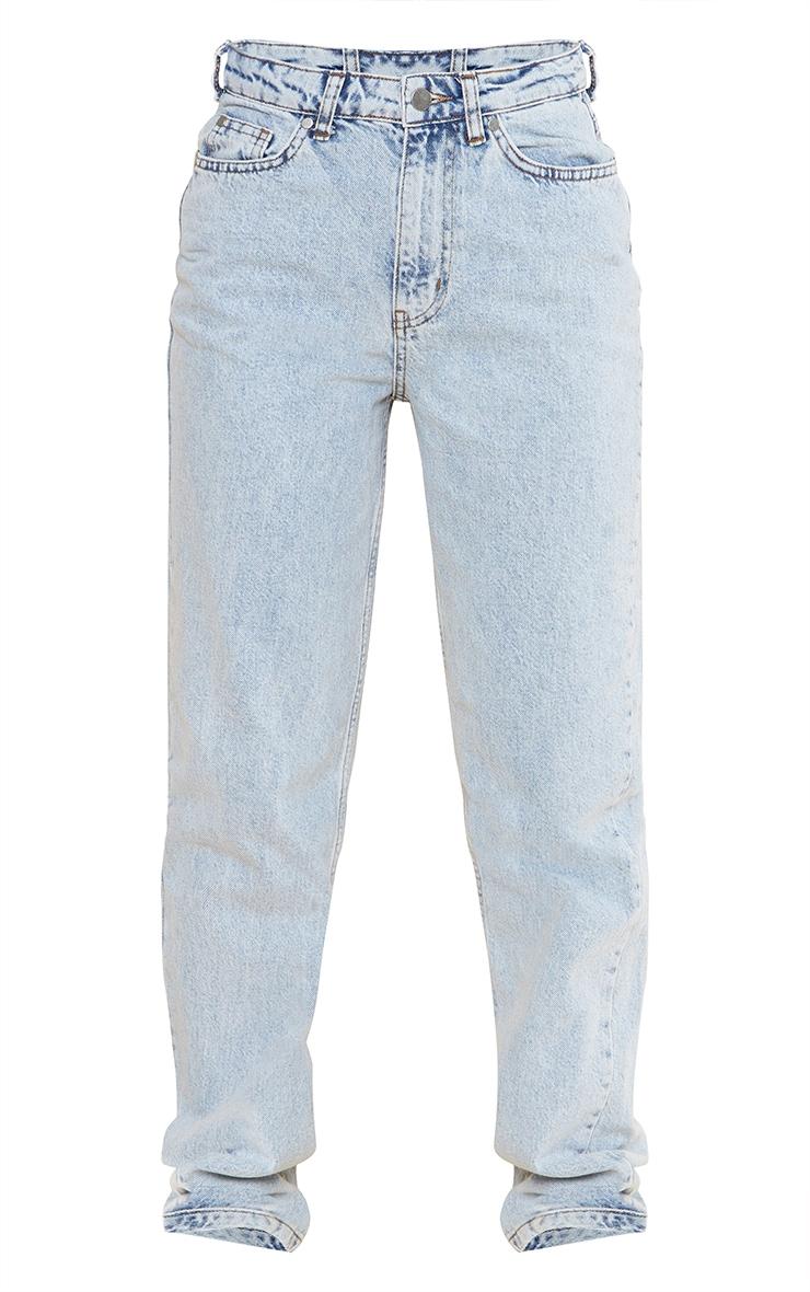 Vintage Wash Long Leg Straight Leg Jean 5