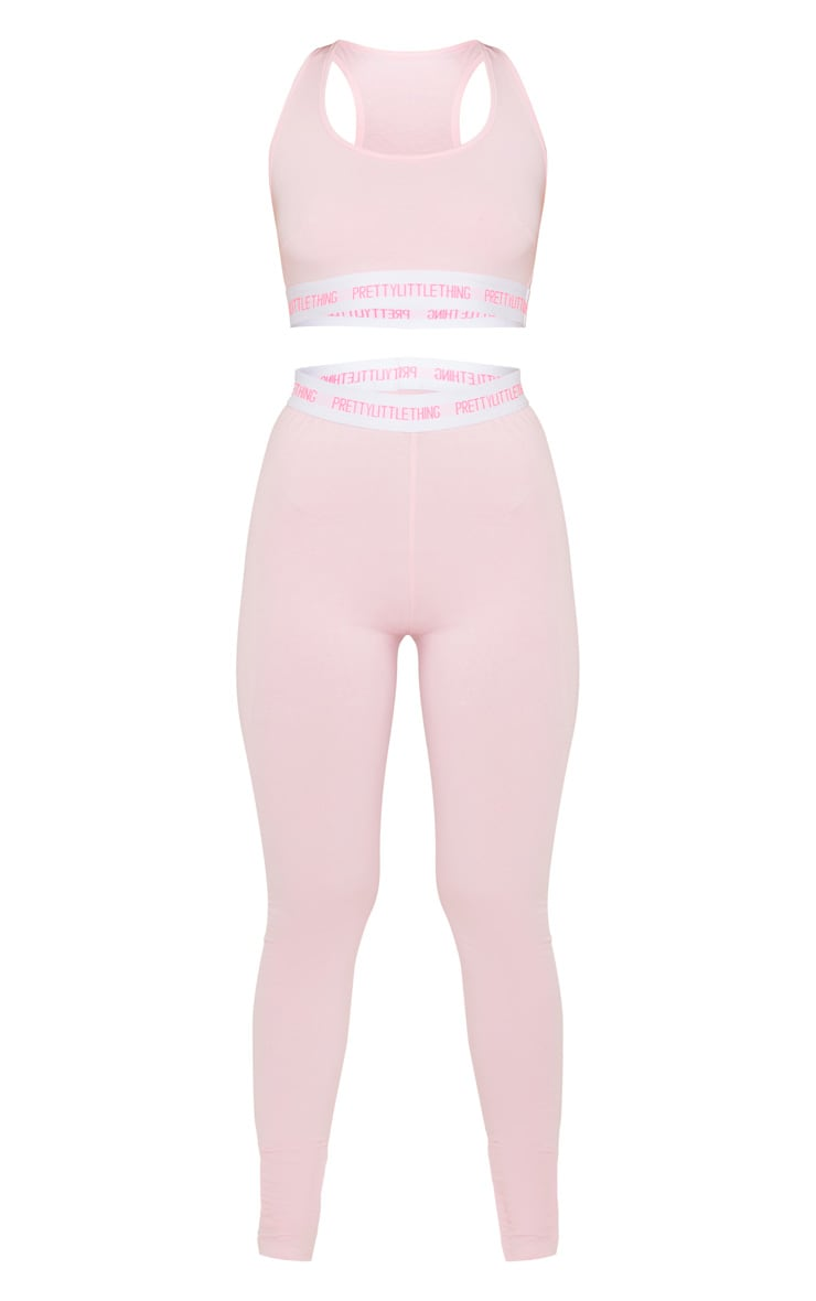 PRETTYLITTLETHING Pink Bralet and Legging Pj Set 3