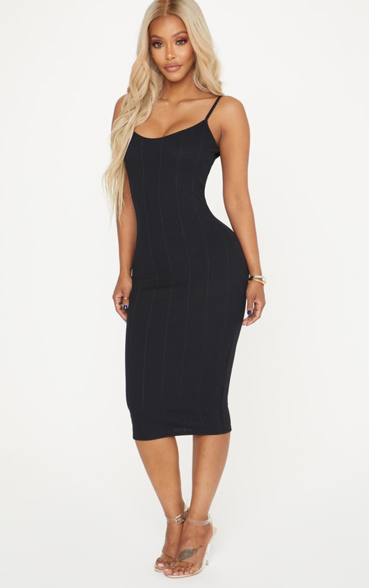 Shape Black Bandage Midi Dress 4