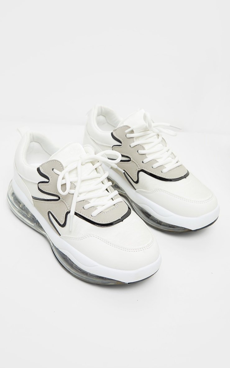 White Clear Bubble Sole Sneakers 2
