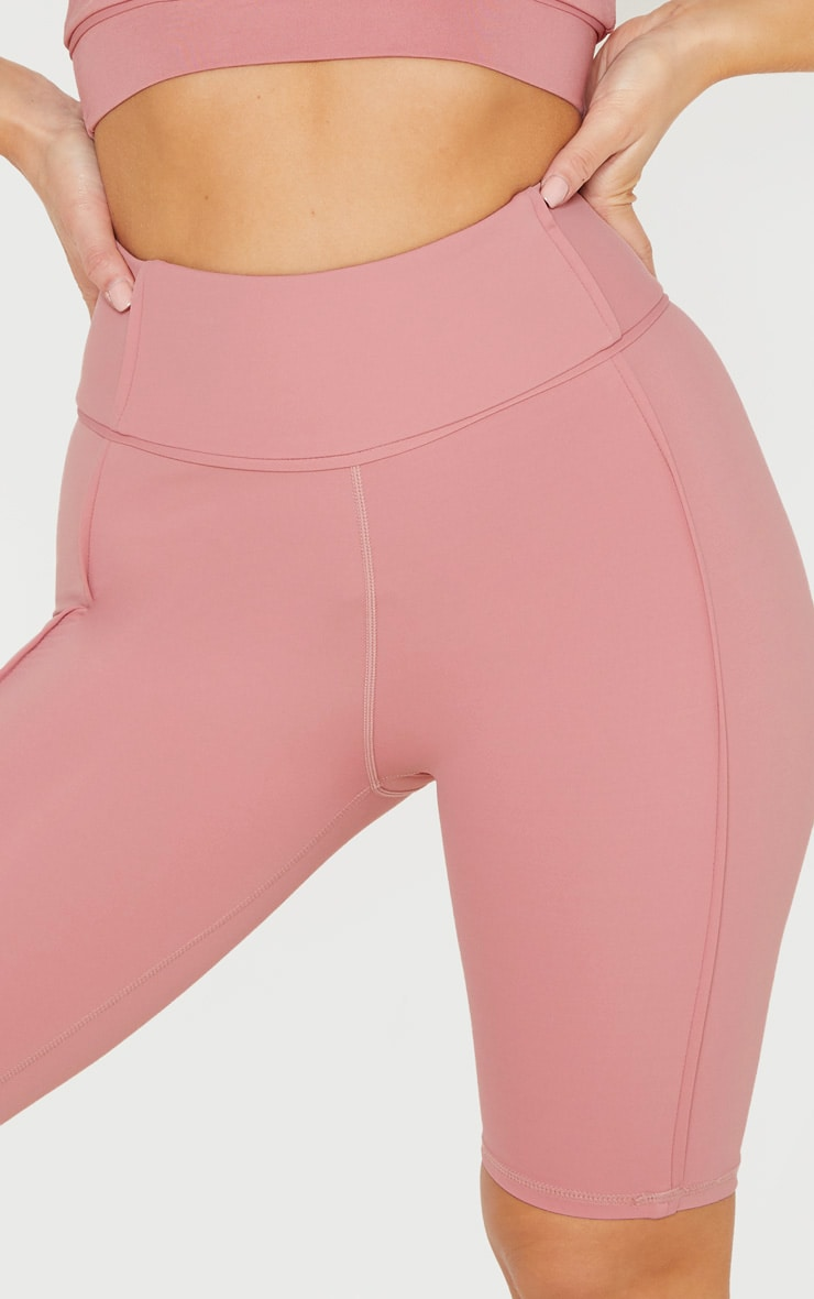 Dusty Pink High Waist Cycle Shorts 6