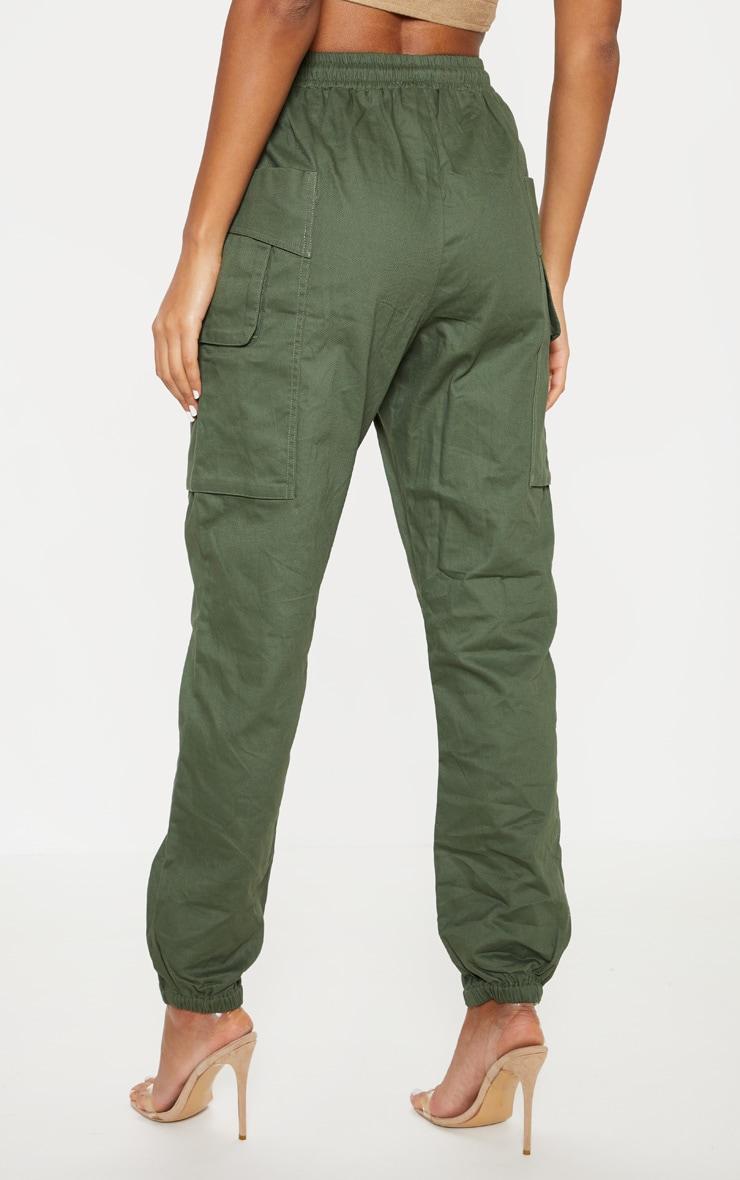 Dark Khaki Double Pocket Detail Cargo Pant 4