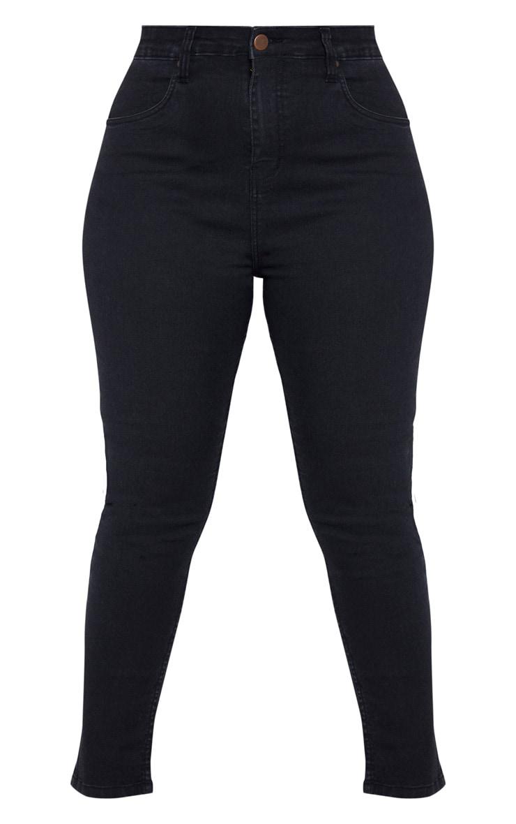 Plus Black High Waisted Skinny Jean 3