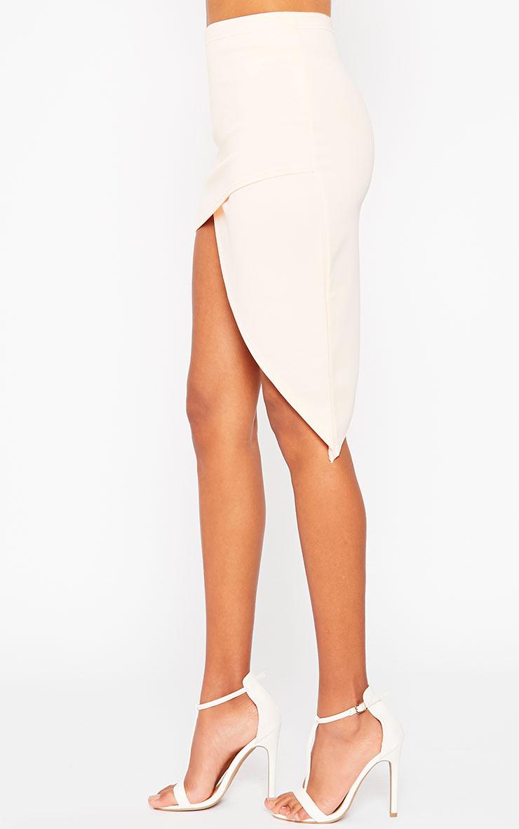 Tiff Nude Wrap Hem Scuba Skirt 3