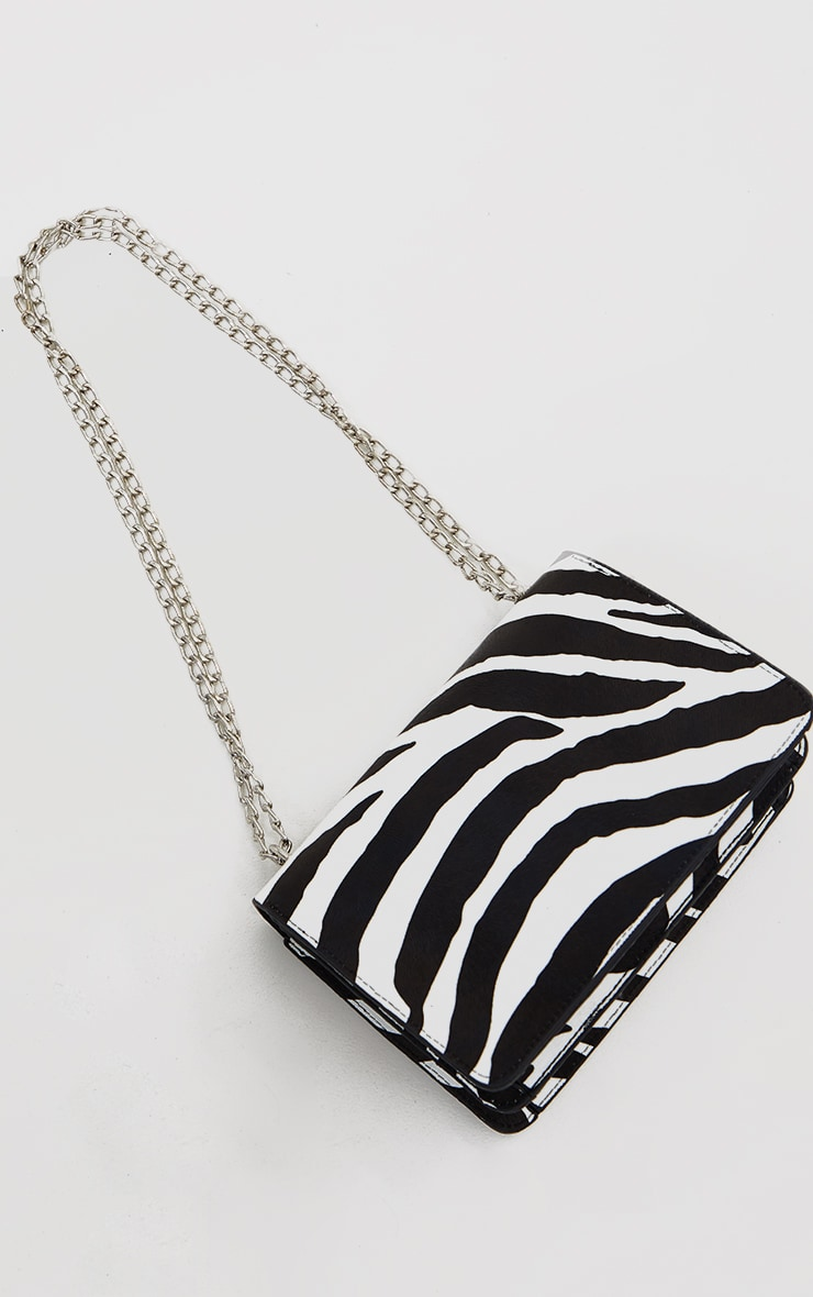Black Zebra Cross Body Bag 2
