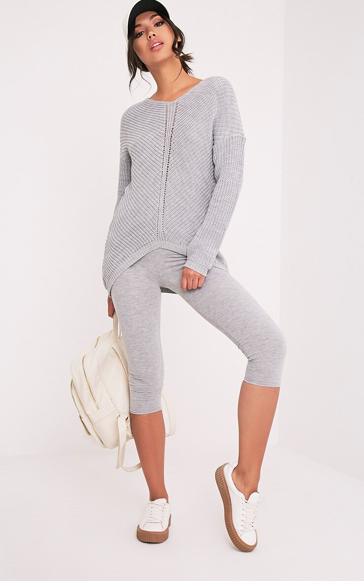 Hollilia Grey V Hem Jumper 5