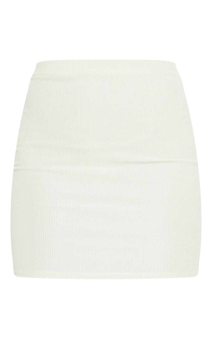 Sage Green Crinkle Rib Mini Skirt 6