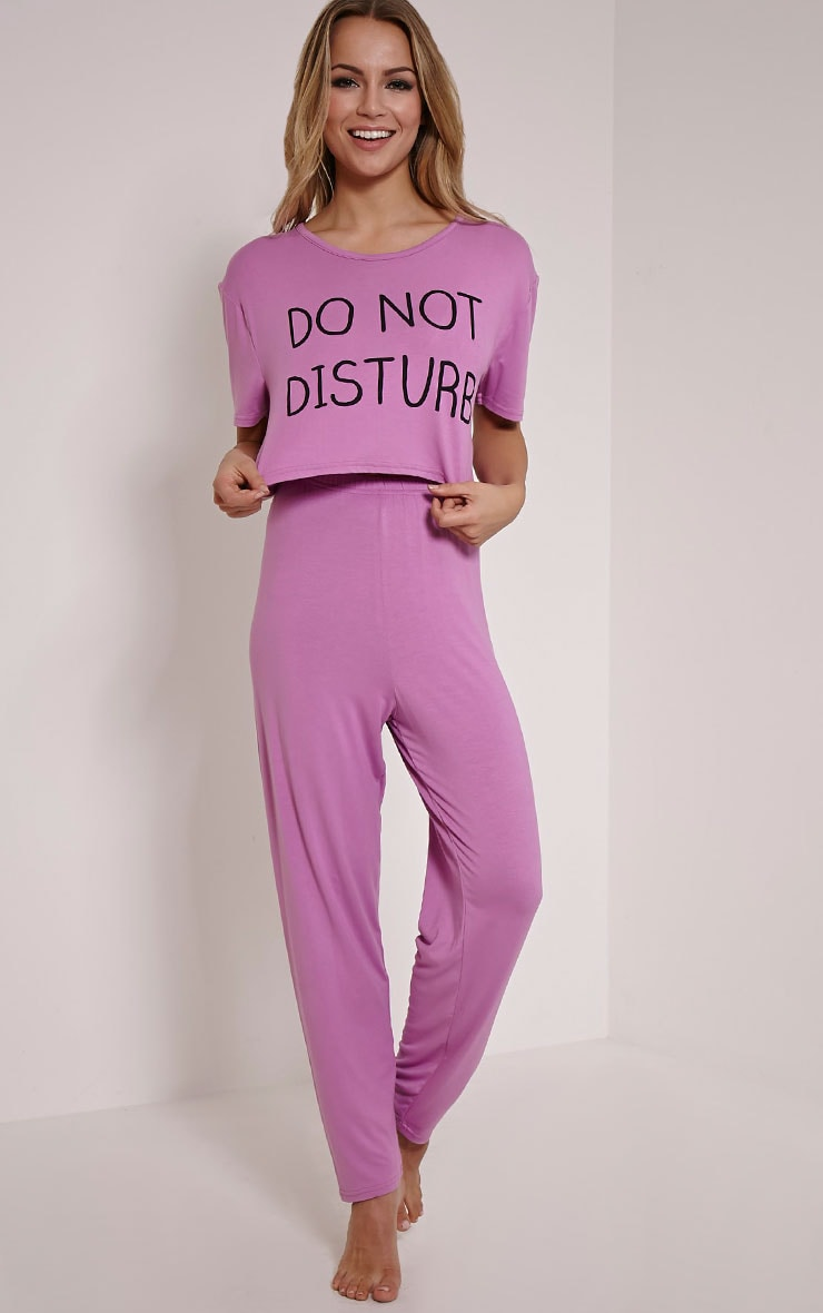 Do Not Disturb Lilac Pyjama Set 1
