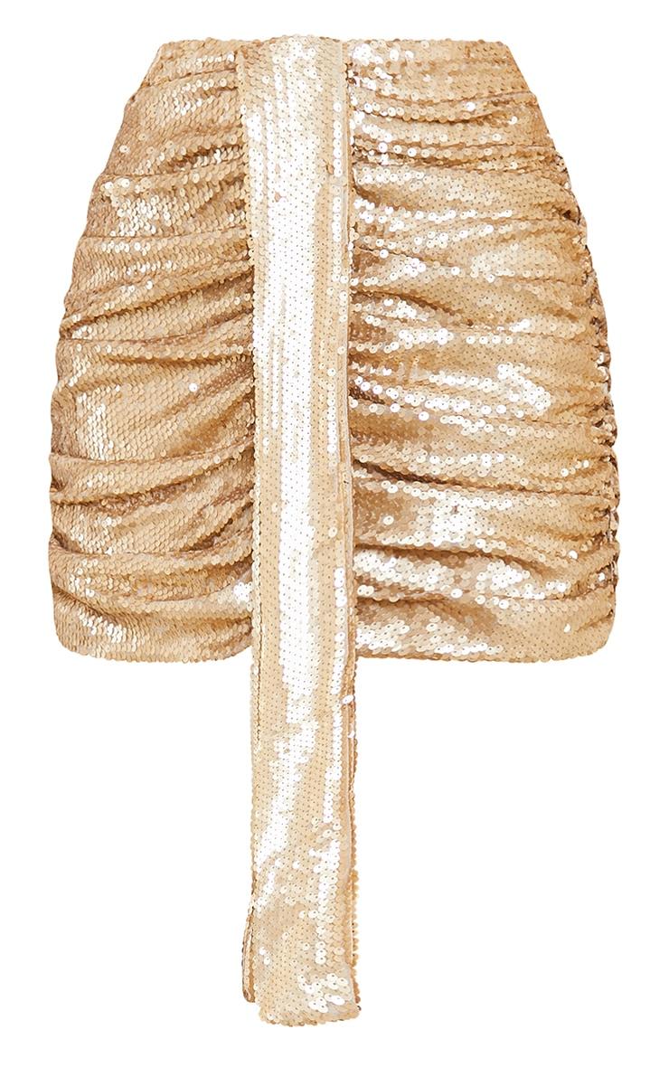 Gold Sequin Drape Skirt 6