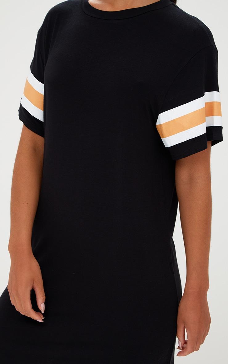 Black Triple Banded T Shirt Dress 5