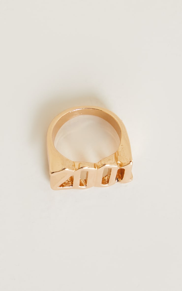 2001 Gothic Font Ring 3
