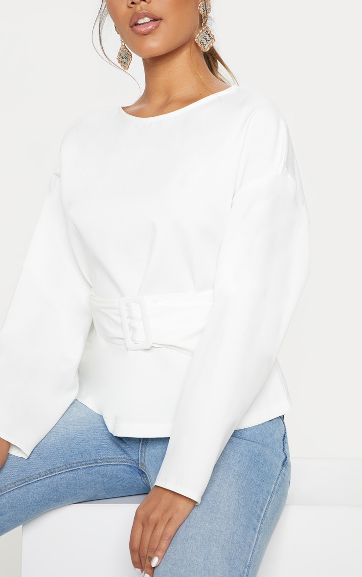 White Belt Detail Oversized Top 5