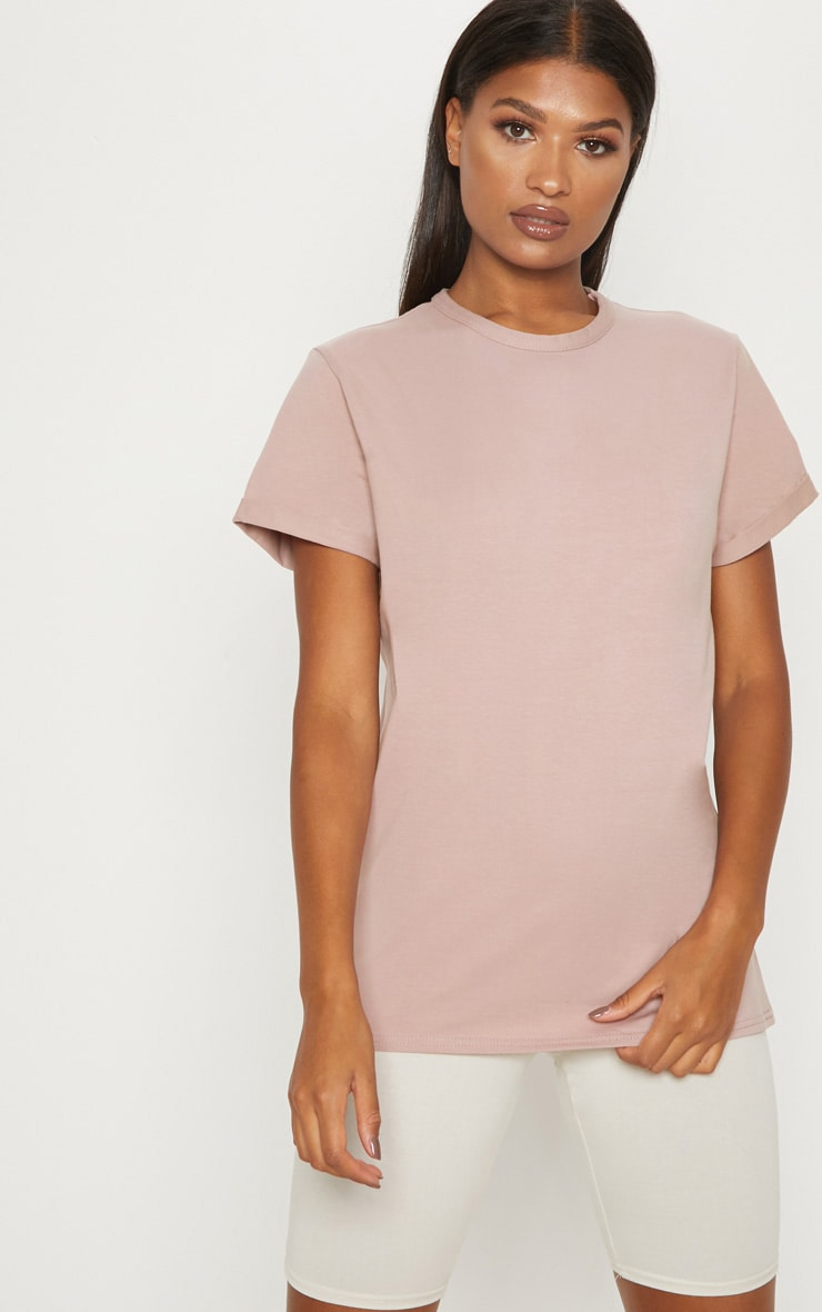 Dusty Pink Boyfriend T Shirt