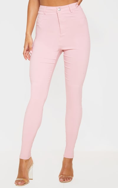 Pink Popper High Waisted Stretch Jegging