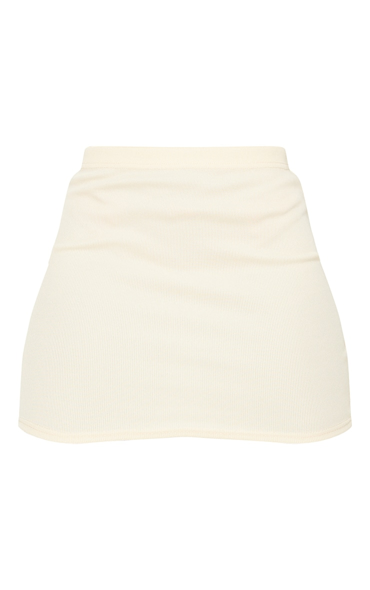 Tall Stone Structured Ribbed Mini Skirt 6