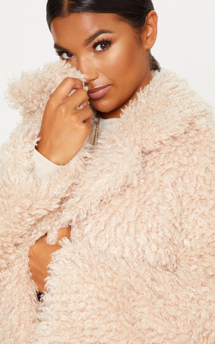 Stone Teddy Faux  Fur Coat   4