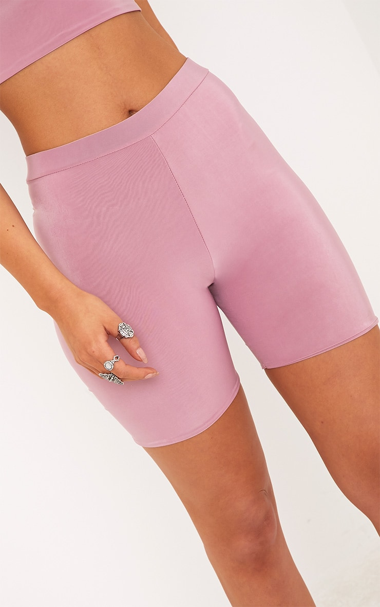 Bella Pink Slinky High Waisted Cycle Shorts 6