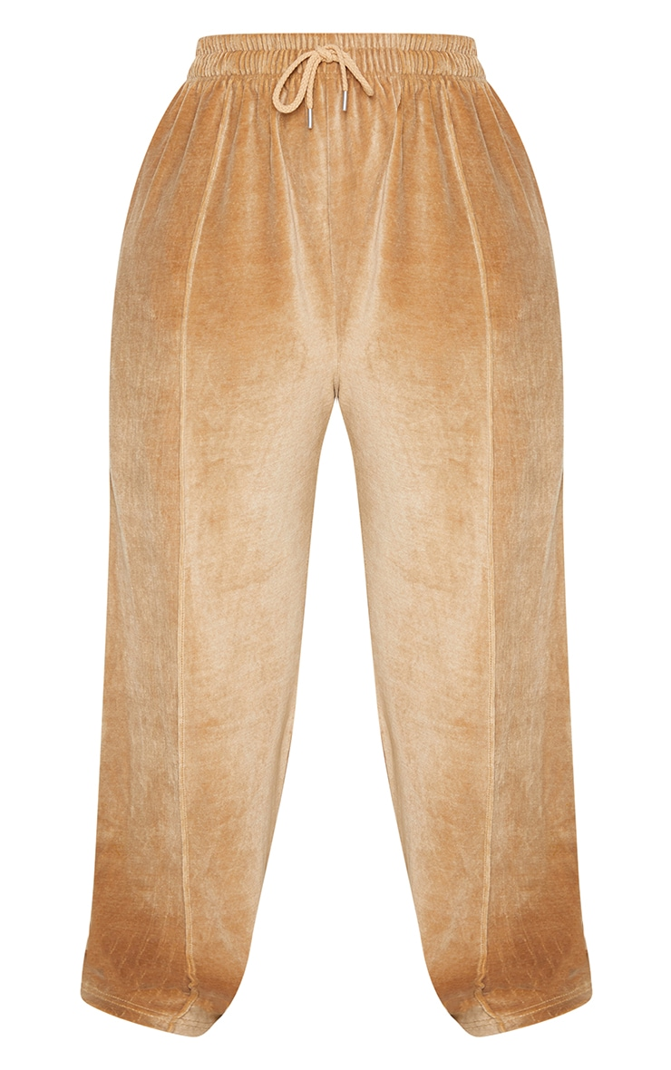Plus Stone Towelling Wide Leg Joggers 5