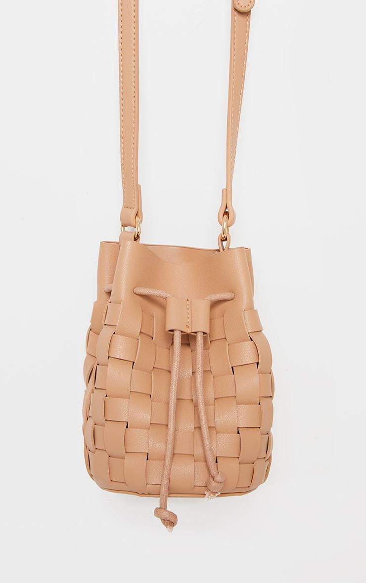 Nude Weave Cross Body Bag 2