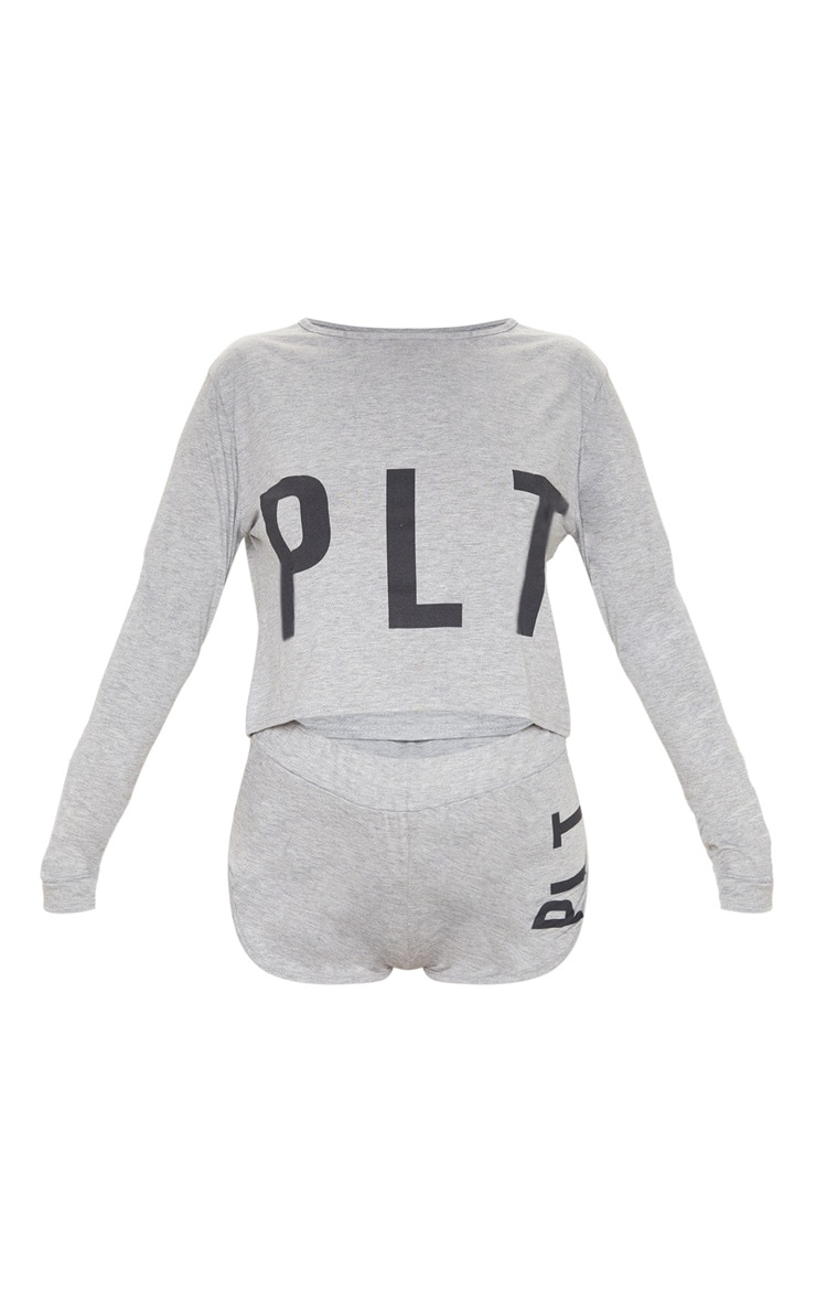 PRETTYLITTLETHING Grey Short Pyjama Set 4