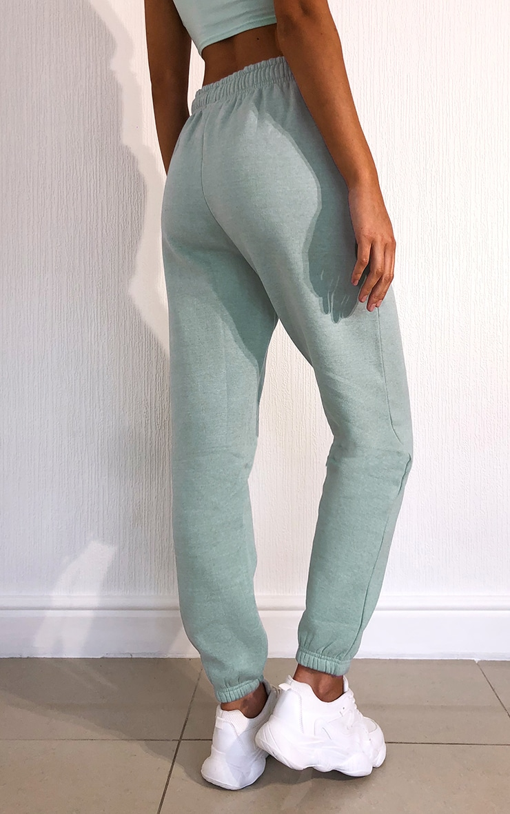 Washed Aqua Casual Joggers 3