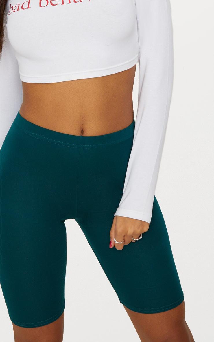 Emerald Green Basic Cycle Shorts 6
