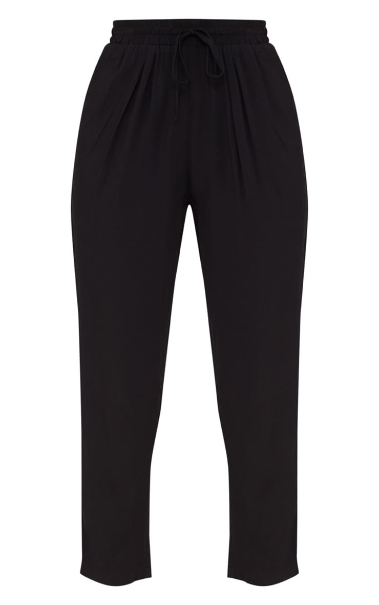 Petite Black Casual Trousers 3
