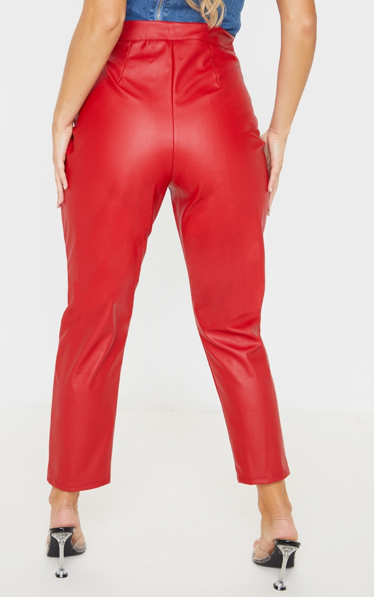 Scarlet Faux Leather Slim Leg Trousers 4