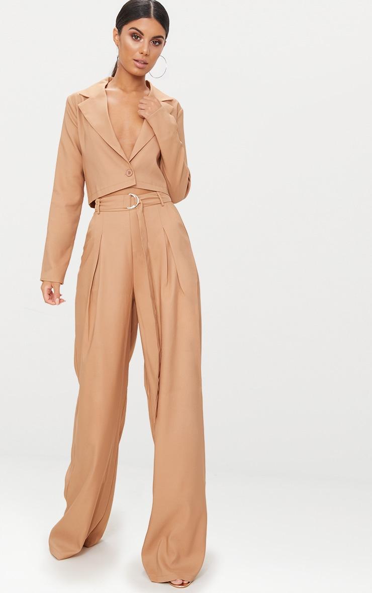Camel Cropped Blazer  4