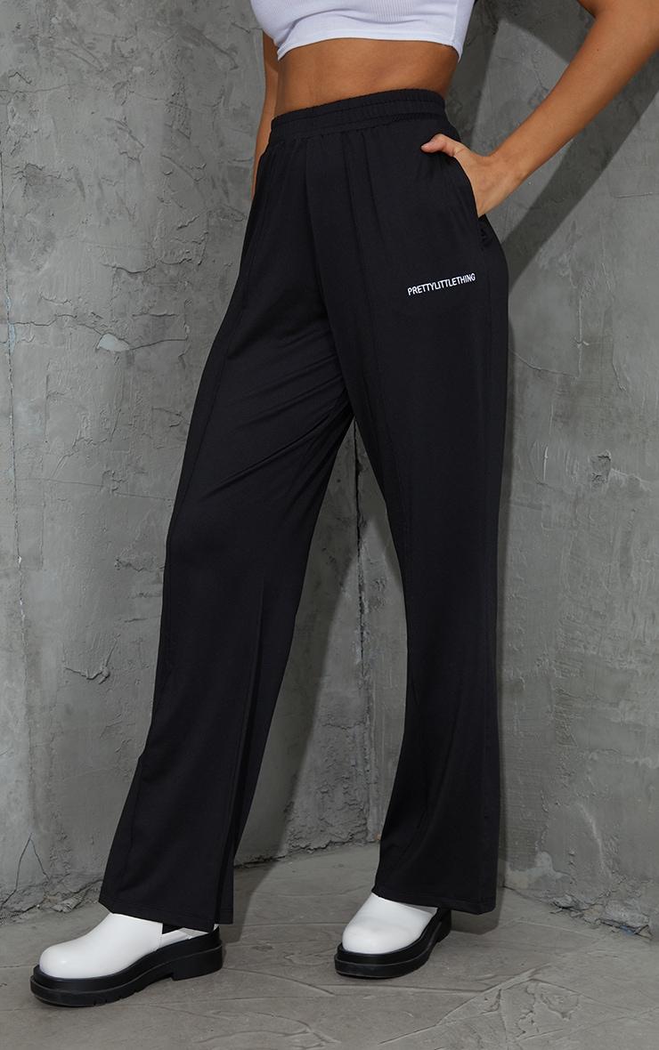 PRETTYLITTLETHING Monochrome Stretch Scuba Wide Leg Pants 2