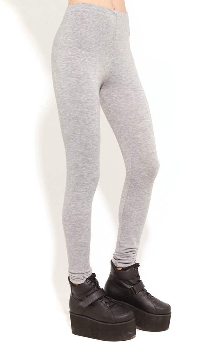 Alexus Grey Jersey Leggings 5