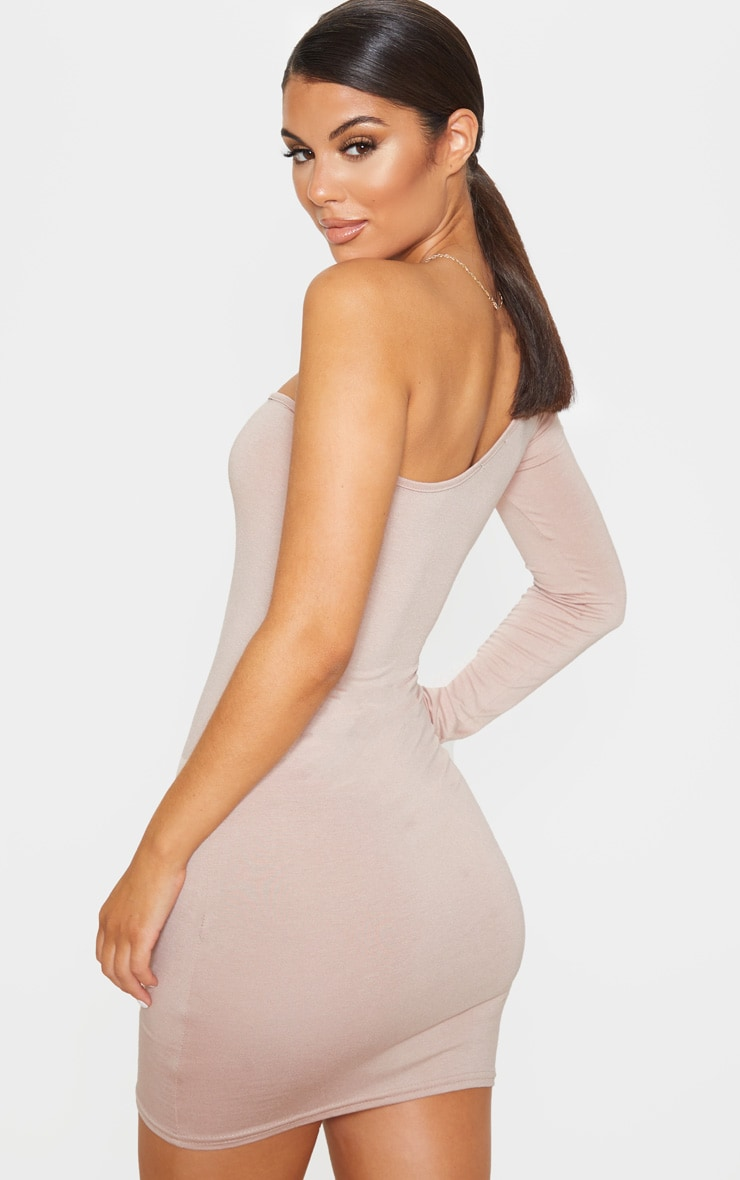 Stone One Shoulder Basic Bodycon Dress 2