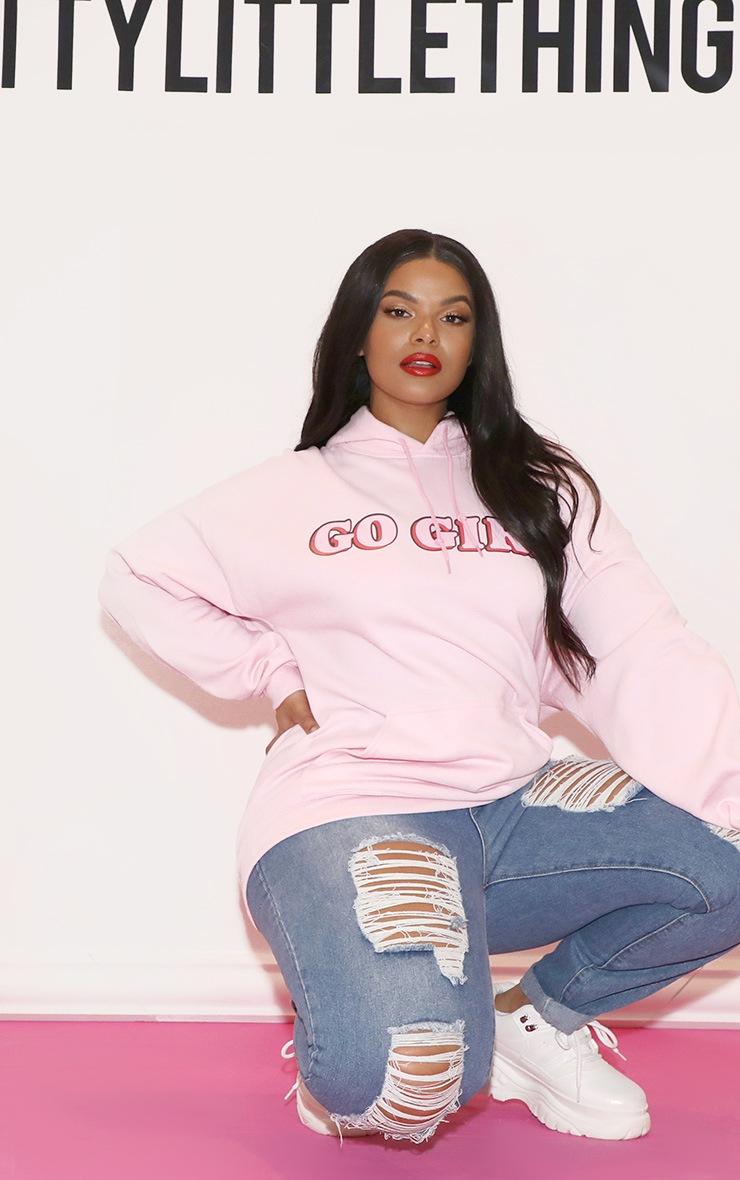 GO GIRL Hoodie Baby Pink 6