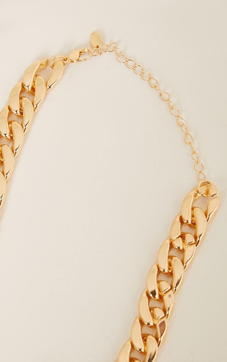 Gold Thick Chain Choker 4