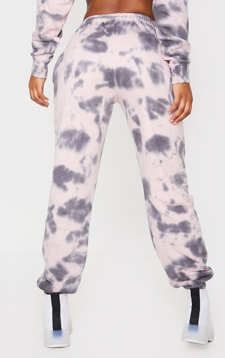 Light Pink Tie Dye High Waist Joggers 3