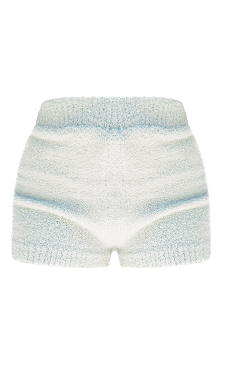 Petite Sage Green Fluffy Knitted Shorts 6