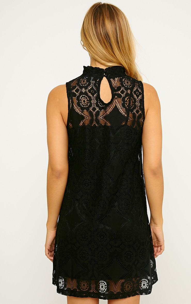 Kelsey Black Lace Shift Dress 2